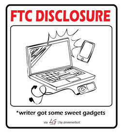 FTC Disclosure: writer gor some sweet gadgets